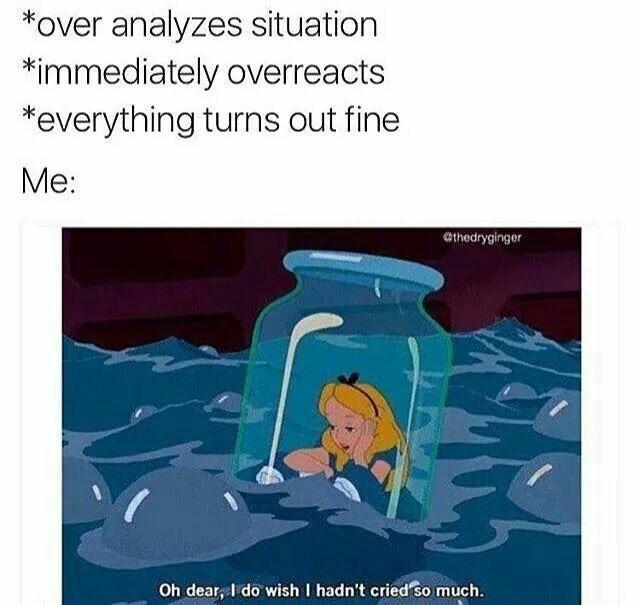 overanalyzing